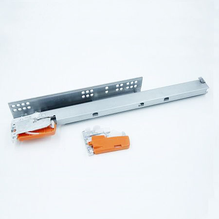 Three fold concealed drawer slide with alloy clip, China supplier